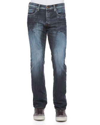 Barracuda Frosty Straight-Leg Jeans, Blue