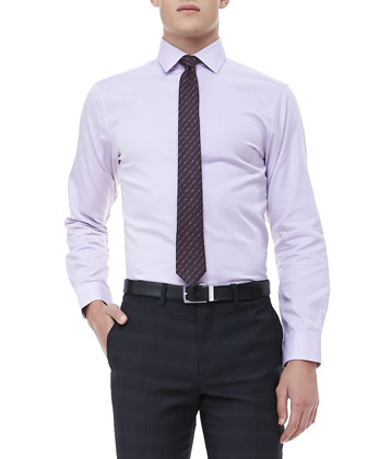 Long-Sleeve Dress Shirt, Lavender