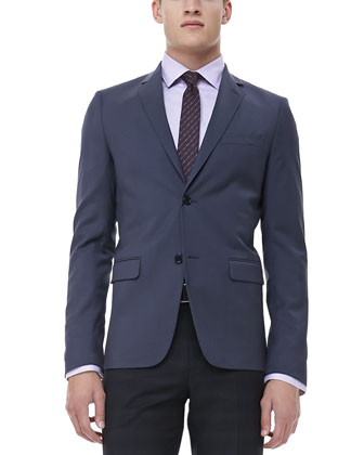 Notched-Lapel Sport Coat, Gray
