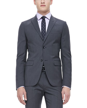 Pindot Sport Coat, Gray