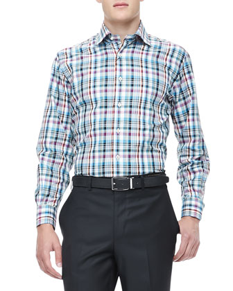 Amalfi Plaid Sport Shirt, Multi