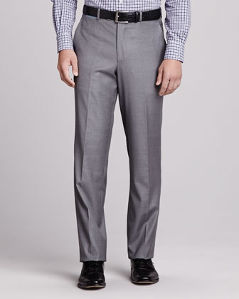 Loro Piana Italian Wool Pants, Pearl Gray