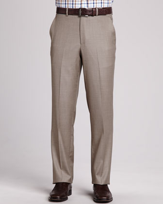 Loro Piana Italian Wool Pants, Tan