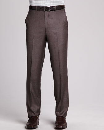 Loro Piana Italian Wool Pants, Mink