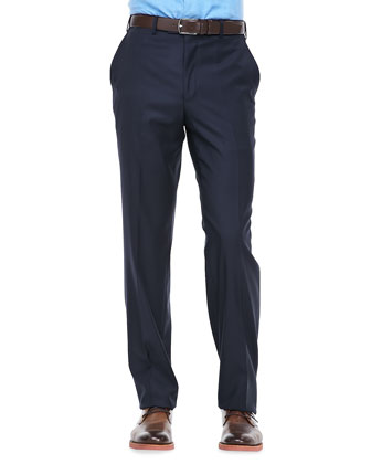 Loro Piana Italian Wool Pants, Navy