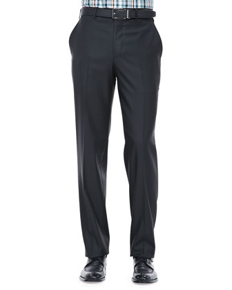 Wool Dress Pants, Black