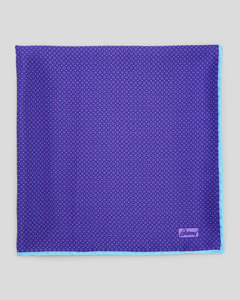 Medallion Micro-Neat Foulard Square, Purple