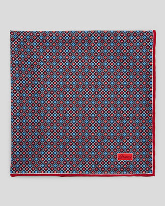 Medallion Neat Foulard Square, Red