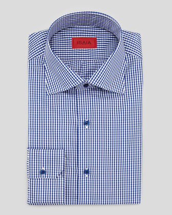 Gingham Shirt, Navy