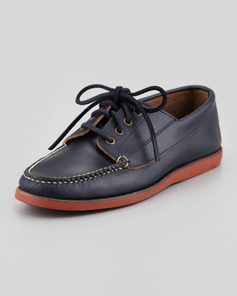Falmouth USA Rubber-Sole Boat Shoe, Navy