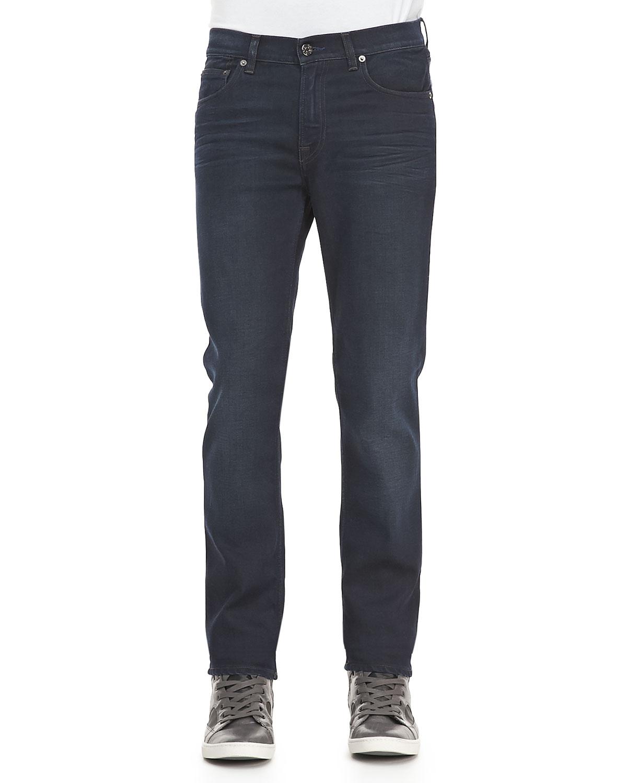 Mens Ace Soft Blue Black Five Pocket Jeans   Acne Studios   Navy (29)