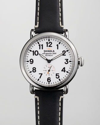 41mm Runwell Men's Watch, White/Black