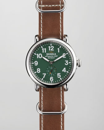 41mm Runwell NATO Strap Men's Watch, Green
