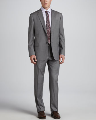 Pinstripe Two-Piece Suit, Gray