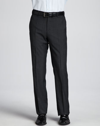 Pindot Dress Pants, Charcoal