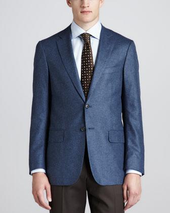 Cashmere/Silk Blazer, Blue-Gray