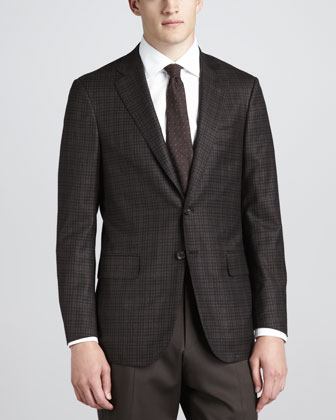 Check Sport Coat, Brown/Black