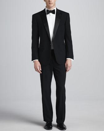 Peak-Lapel Tuxedo & Tuxedo Shirt