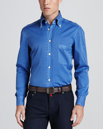 Chambray Dress Shirt, Blue