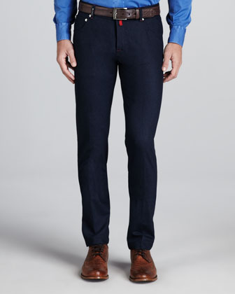 Five-Pocket Pants, Navy