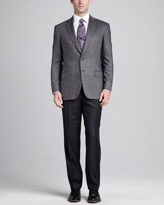 Tic-Weave Sport Coat, Gray