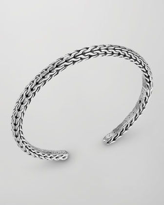 Men's Classic Chain Silver Slim Kick Cuff
