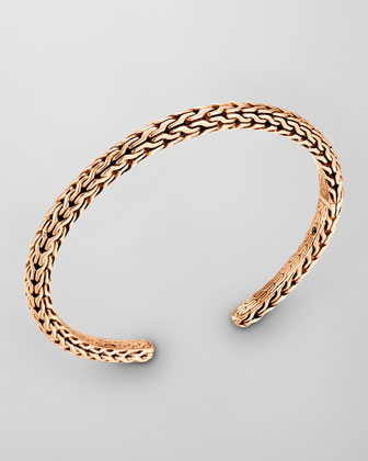 Men's Classic Chain Bronze Slim Kick Cuff