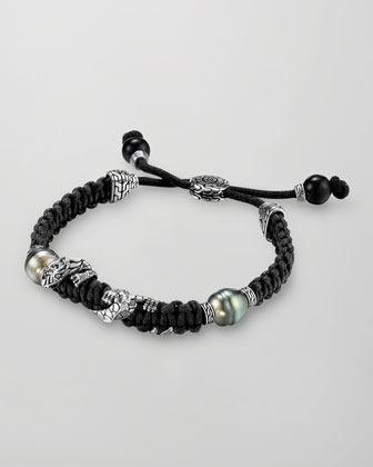 Men's Naga Silver Dragon Station Bracelet