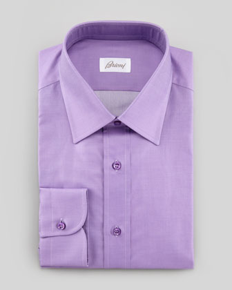 Barrel-Cuff Dress Shirt, Bright Purple
