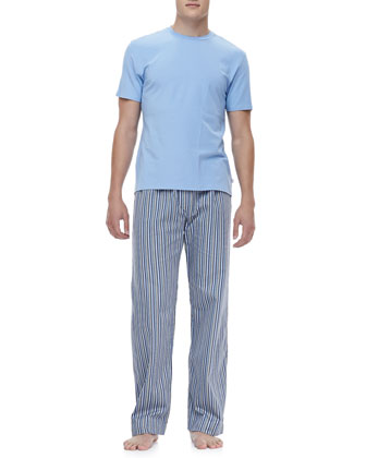 Wellington 31 Lounge Pants, Blue Stripe