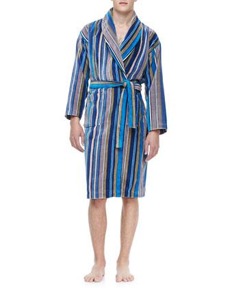 Terry Cloth Robe, Blue