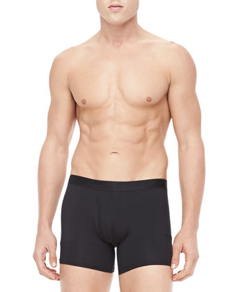 Jack Stretch Cotton Trunks, Black