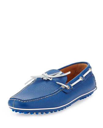 Slip-On Driving Shoe, Bright Blue