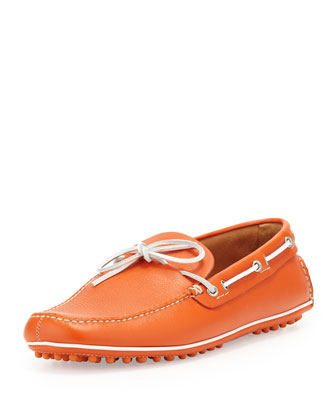 Slip-On Driving Shoe, Orange