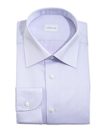 Glen Plaid Dress Shirt, Lavender