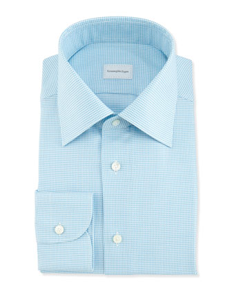 Tic Weave Dress Shirt, Aqua