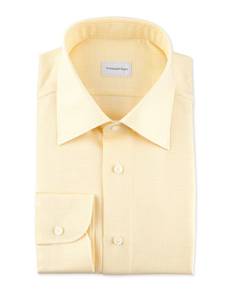 Tic Weave Dress Shirt, Yellow