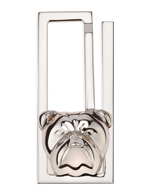 Mens Silver Bulldog Money Clip   Alfred Dunhill   Silver