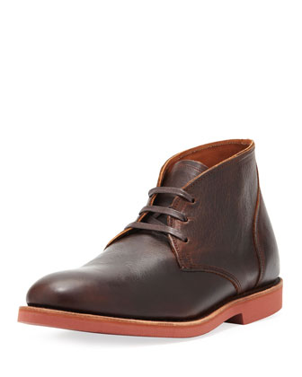 Straits Leather Chukka Boot, Dark Brown