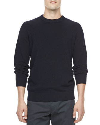 Phylis Wool Crewneck Sweater, Navy