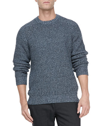 Gaspar C Crewneck Sweater, Blue