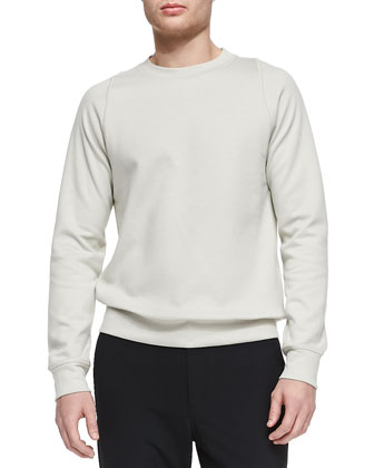 Solid Crewneck Sweatshirt, Taupe