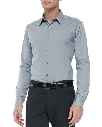 Sylvain Sport Shirt, Gray
