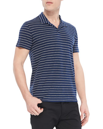 Willem Cohesive Short-Sleeve Polo, Navy