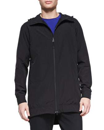 Esque Stretch-Nylon Zip Anorak Jacket