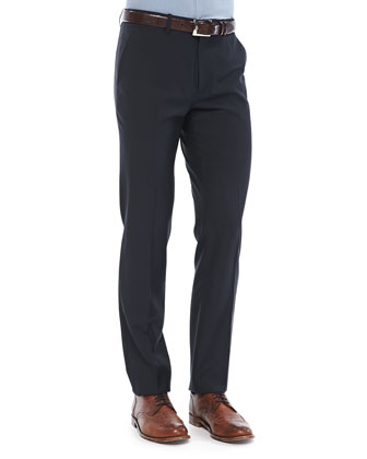 Marlo Pants in Ronas Wool, Navy