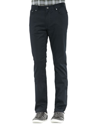 Luxe 5-Pocket Pants, Navy