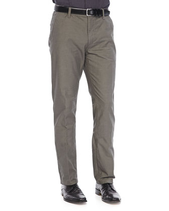 Slim-Fit Pants with Flap-Pockets, Camel