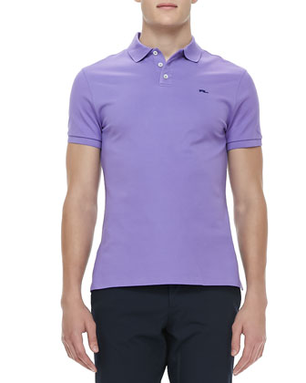 RL Short-Sleeve Mesh Polo, Light Purple