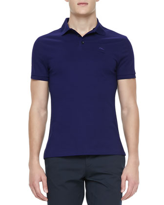 RL Short-Sleeve Mesh Polo, Royal